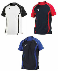 BNWT-GILBERT-MENS-PERFORMANCE-RUGBY-LEISURE-TEE-SHIRT-TOP-SIZES-M-L-XL-3-COLOUR