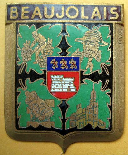 Badge auto car drago 1950s original Beaujolais France French