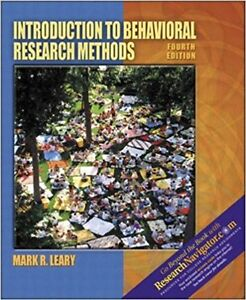 Introduction to Behavioral Research Methods fourth edition