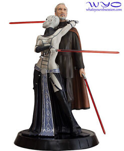 Buying star wars count dooku and asajj ventress statue