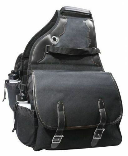 Showman Black 600D Deluxe Insulated Nylon Saddle Bags Horse Tack Equine 0110
