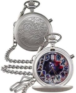 DOCTOR WHO METAL FOB WATCH - 50TH ANNIVERSARY FULLY WORKING LIGHTS UP THE MASTER