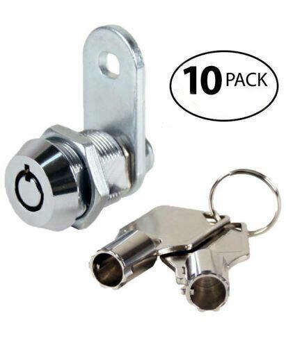 "Vending lock 5/8"" cam lock keyed alike, cabinet door lock, #1452 - Quantity 10"