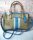Coach Signature Stripe Blue