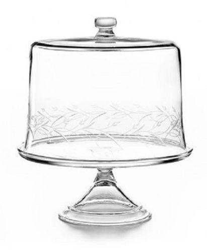 Glass Cake Stand Dome Ebay
