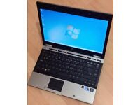 HP EliteBook 8440p laptop 250gb hd 8gb ram Intel 2.4ghz Core i5 processor