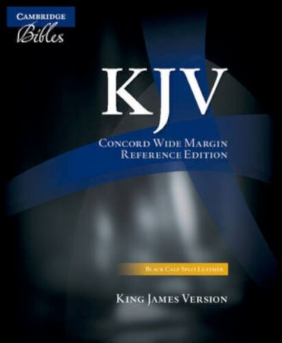 NEW Kjv Concord Wide Margin Reference Bible,... BOOK (Leather / fine binding)