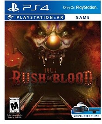 NEW Until Dawn Rush of Blood Game Sony PlayStation 4 VR PSVR