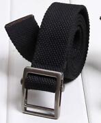 Mens Black Canvas Belts