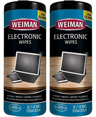 Weiman Electronic Wipes - Non Toxic Safely Clean 30 Count (2 Pack)