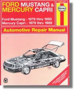 Haynes Ford Mustang and Mercury Capri