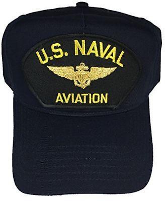 US NAVAL AVIATION W/ AVIATOR WINGS BADGE HAT CAP PILOT NAVIGATOR VETERAN USMC