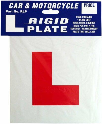 RIGID HARD PLASTIC LEARNER DRIVER L PLATE EXTERIOR CAR MOTORBIKE MOTORCYCLE