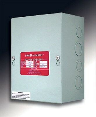 Phase-a-matic 3 Hp Vs-3 Rotary Converter Voltage Stabilizer