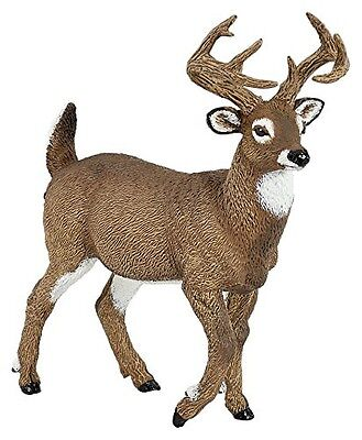 Papo 53021 Whitetail Deer Buck Model Wild Animal Figurine Replica Toy - NIP