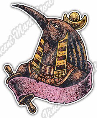 """Horus God Ancient Egypt Bird Head Myth Car Bumper Vinyl Sticker Decal 4""""X5"""""""