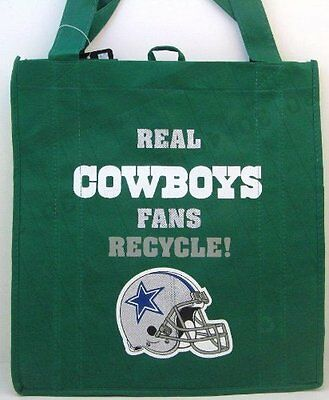 Nfl Dallas Cowboys Reusable Canvas Shopping Tote  New