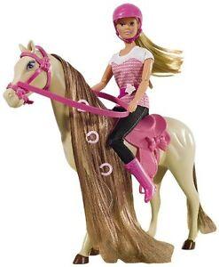 Puppe Simba Steffi Love Reitausflug Barbie Pferd Pony Spielzeug Mädchen Figuren