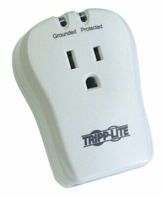 Tripp Lite 1 Outlet Portable Surge Protector Power Strip, Direct Plug in, Tel/Mo
