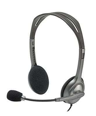 Cuffie con Microfono Logitech H111 stereo per pc ps tv musica tablet skype