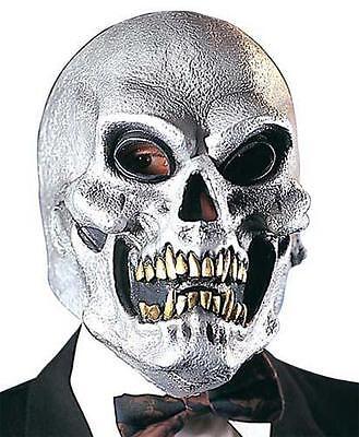 Silver Skull Mask Skeletor Skeleton Halloween Fancy Dress