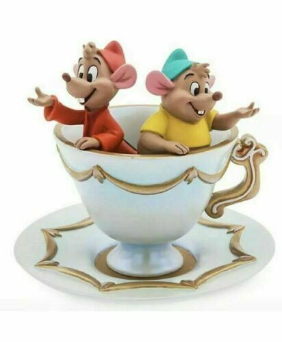 Disney Gus and Jaq Trinket Jewellery Dish Tray Cinderella Teacup Saucer