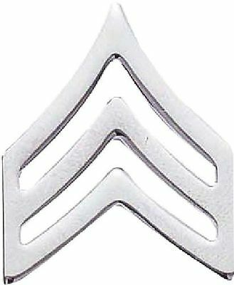 METAL RANK CHEVRONS, CORPORAL OR SERGEANT