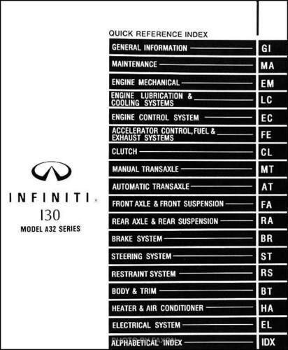 Infiniti Service Manual