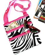 Pink and Black Zebra Purse