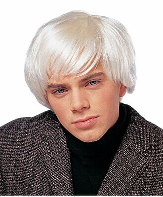 Costume Culture Artist Andy Warhol Platinum Deluxe Wig Halloween Costume 24653](Andy Warhol Costume Halloween)