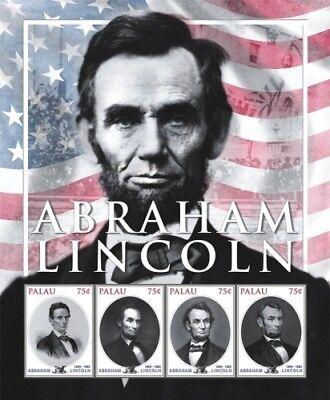 Palau- President Abraham Lincoln Stamp- Sheet of 4 MNH