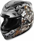 Icon Silver Motorcycle Helmets