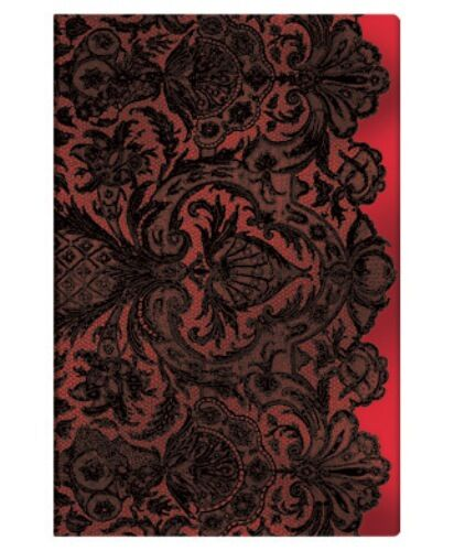 """Paperblanks ADDRESS BOOK Lace Allure """"Rouge Boudoir"""" Mini 3¾ x 5½"""" New"""