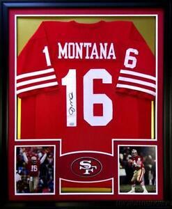 bd8a8a53c0b Joe Montana Signed Framed Jerseys