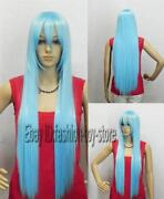 Long Light Blue Wig
