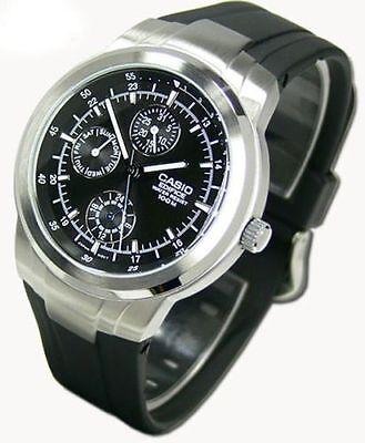 Casio Men's Edifice 3-Eye Watch, Black Resin Strap, 100 Meter WR,  EF305-1AV