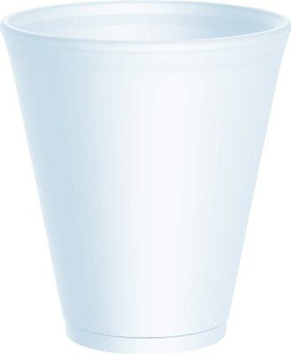 12 Oz White Foam Cups (100 x Dart 12oz White Disposable Foam Polystyrene Cups Insulated Cold Tea Coffee)