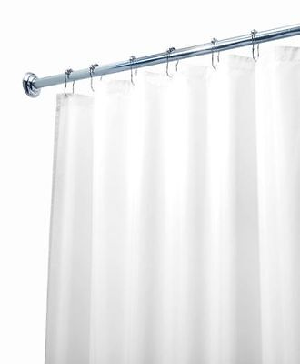 "Deluxe Quality Shower Curtain Liner White 70/""W x 71/""L Mildew Resistant USA Ship"