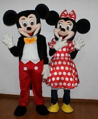 HOT Adult Suit Size MICKEY MOUSE AND MINNIE MOUSE mascot costume](Adult Mascot)