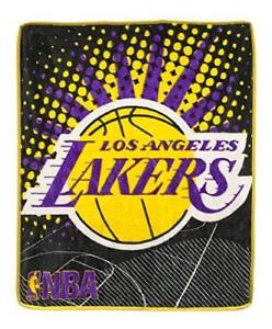 New NBA Los Angeles Lakers Ultimate Super Plush Throw 48 x 60 Blanket Official