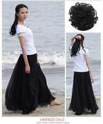 Girls Long Black Skirt