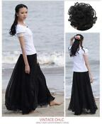 Girls Long Black Skirt