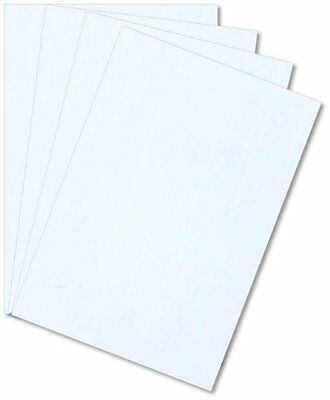 5 Pack White Styrene Polystyrene Plastic Sheets .010 Thick 6 X 12