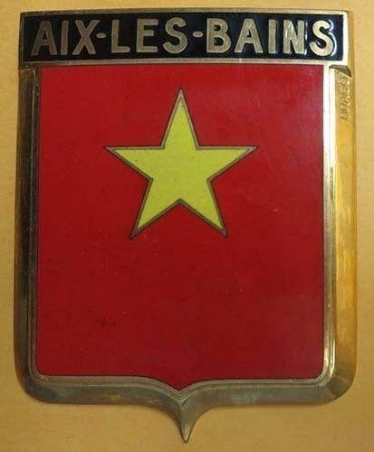 Badge auto car drago 1950s original Aix Les Bains France French