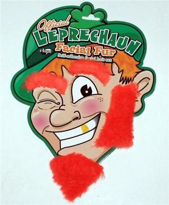 Offical Leprechaun St Patricks Day ORANGE Beard Eyebrow Sideburn FACIAL Fur Hair - Leprechaun Beards