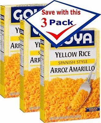 Goya Rice (Goya Yellow Rice, Spanish Style 8 Oz Arroz Amarillo Pack of 3 - Free)