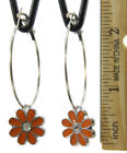 Flowers & Plants Crystal Orange Fashion Earrings