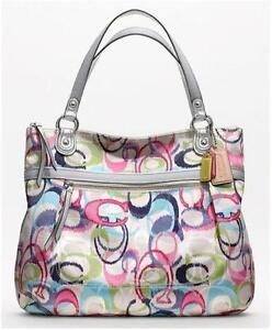 coach pink and gray purse fyuo  Coach Poppy Glam Tote Pink