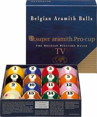 Wonderful Aramith Pro Pool Balls Set TV FREE BALL CLEANER/POLISH