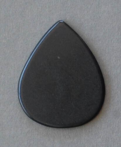 GP2218 Stone Guitar Pick Traditional shape Gemstone Black Jade